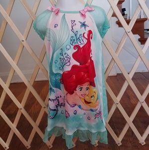 4t Disneys little mermaid nightgown